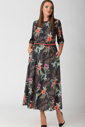 Купить Платье ТАиЕР 526 тёмно-синий, Платья, 526, тёмно-синий, Вискоза 40%, ПЭ 55%, Эластан 5%, Лето