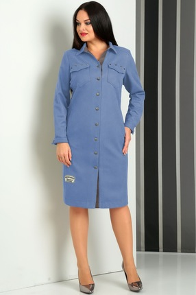 Купить Платье Jurimex 1823 синие тона, Платья, 1823, синие тона, полиэстер – 95%, эластан – 5%, Мультисезон