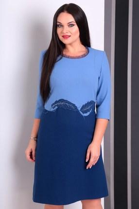 Купить Платье Jurimex 1825 синие тона, Платья, 1825, синие тона, полиэстер – 65%, вискоза – 28%, спандекс – 7%, Мультисезон