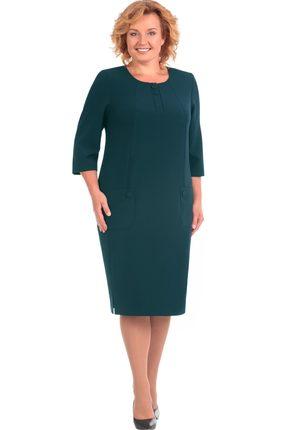 Платье Линия-Л Б-1561 тёмно-зеленый