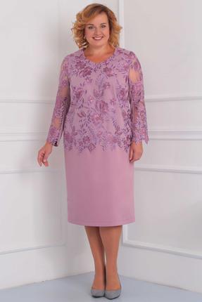 Купить Платье Орхидея Люкс 849 розовый, Платья, 849, розовый, Поливискоза (пэ 63%, вискоза 34%, пу 3%), Мультисезон
