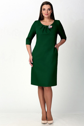 Купить Платье Мишель стиль 712 зеленый, Платья, 712, зеленый, полиэстер 67%, вискоза 30%, спандекс 3%, Мультисезон
