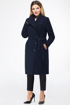 Купить Пальто Дали 2192 темно-синий, Пальто, 2192, темно-синий, шерсть 73%, пэ 24%, спандекс 3%, Мультисезон