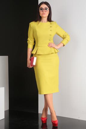 Купить Комплект юбочный Мода-Юрс 2314 лимон, Юбочные, 2314, лимон, Полиэстер 100%. ЖАККАРД, Мультисезон
