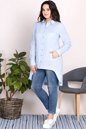 Купить со скидкой Рубашка Olga Style с500 голубой