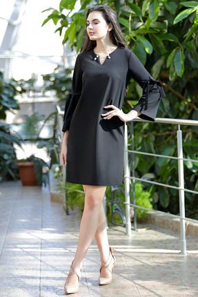Купить Платье PIRS 456 черный, Платья, 456, черный, Состав: 66% полиэстер 30% вискоза 4% эластан, Мультисезон