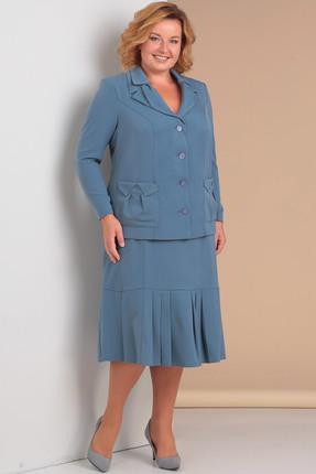 Комплект юбочный Новелла Шарм 3073 синие тона