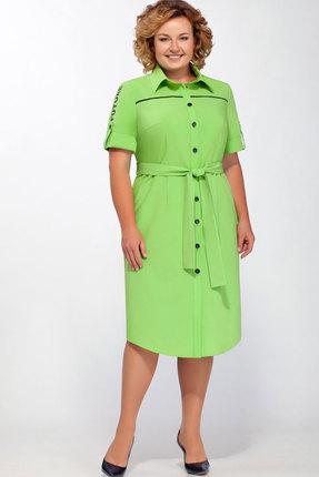 Купить Платье Теллура-Л 1395 зелёные тона, Платья, 1395, зелёные тона, 38% Вискоза, 57% ПЭ, 5% Эластан, текстиль, Мультисезон
