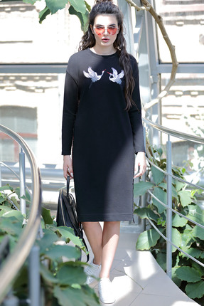 Платье PIRS 467 черный, Платья, 467, черный, Состав: 49% хлопок 48% нейлон 3 % спандекс, Мультисезон  - купить со скидкой