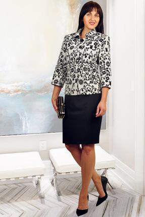 Комплект юбочный Миа Мода 852-20 черно-белый