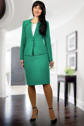 Комплект юбочный Миа Мода 877-3 светло-зеленый, Юбочные, 877-3, светло-зеленый, Блуза: ПЭ 100% Жакет и юбка: ПЭ 95%, эластан 5% Подкладка ПЭ 100%., Мультисезон  - купить со скидкой