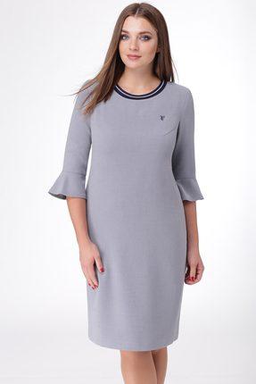 Купить Платье Линия-Л Б-1673 серый, Платья, Б-1673, серый, Ткань текстильная Летуаль - ПЭ 66%+Вискоза 29%+Спандекс 5%, Мультисезон