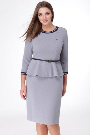 Купить Комплект юбочный Линия-Л А-1676 серый, Юбочные, А-1676, серый, Ткань текстильная Летуаль - ПЭ 66%+Вискоза 29%+Спандекс 5%, Мультисезон