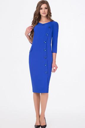 Купить Платье Erika Style 669 василек, Платья, 669, василек, вискоза 72%, ПЭ 25%, спандекс 3%, Мультисезон