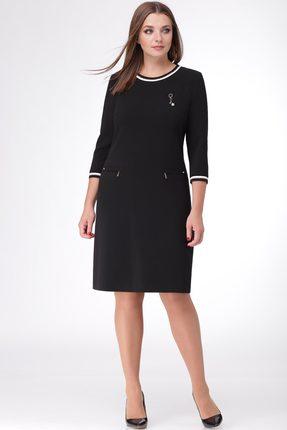 Купить Платье Линия-Л Б-1677 черный, Платья, Б-1677, черный, Ткань текстильная Летуаль - ПЭ 66%+Вискоза 29%+Спандекс 5%, Мультисезон