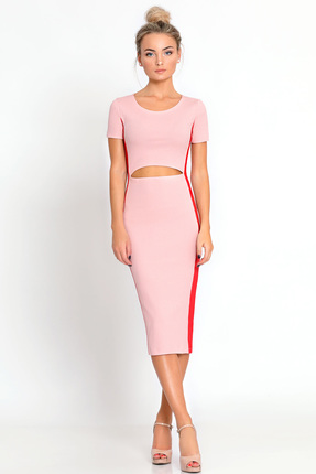 Купить Платье Prio 180980 розовый, Повседневные платья, 180980, розовый, Полиэстер 60%; вискоза 30%; эластан 10%., Лето