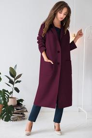 Пальто ЮРС 18-872-2 темный фиолет