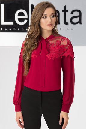 Фото #1: Блузка LeNata 11883 бордо-марсала
