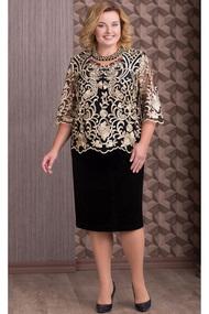 Платье Aira Style 595н черный с золотом