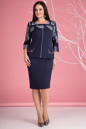 Купить со скидкой Комплект юбочный Лилиана 669 темно-синий