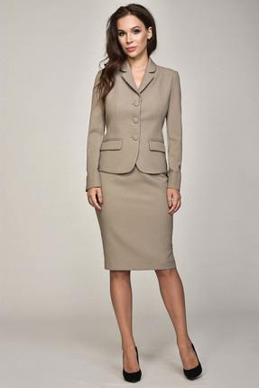 Купить Комплект юбочный Teffi style 1362 капучино, Юбочные, 1362, капучино, 66% ПЭ, 29% вискоза, 5% спандекс, Мультисезон