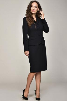 Комплект юбочный Teffi style 1362 черно синий, Юбочные, 1362, черно синий, 66% ПЭ, 29% вискоза, 5% спандекс, Мультисезон  - купить со скидкой