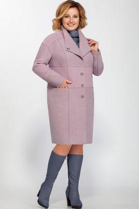 Купить Пальто LaKona 1146 сиреневый, Пальто, 1146, сиреневый, ПЭ 50%+Шерсть 50%, Мультисезон