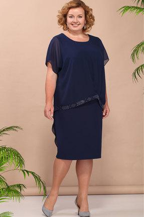 Купить Платье Bonna Image 352 тёмно-синий, Платья, 352, тёмно-синий, ПЭ - 71%, Вискоза - 24 %, Спандекс - 5%, Мультисезон