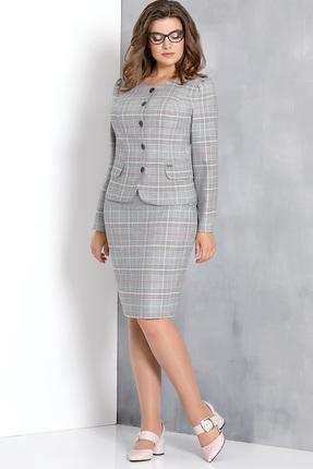 Купить со скидкой Комплект юбочный Olga Style с556 серые тона