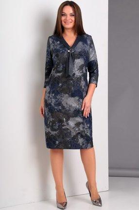 Купить Платье Jurimex 1842 синие тона, Платья, 1842, синие тона, полиэстер – 65%, вискоза – 28%, спандекс – 7%, Мультисезон