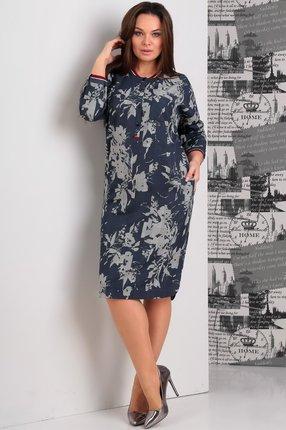 Купить Платье Jurimex 1845 серо-синие тона, Платья, 1845, серо-синие тона, полиэстер – 73%, вискоза – 22%, спандекс – 5%, Мультисезон