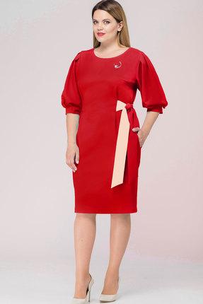 Купить Платье Bonna Image 350 красный, Платья, 350, красный, Полиэстр - 71%, Вискоза - 24 %, Спандекс - 5%, Мультисезон