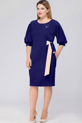 Купить Платье Bonna Image 350 тёмно-синий, Платья, 350, тёмно-синий, Полиэстр - 71%, Вискоза - 24 %, Спандекс - 5%, Мультисезон