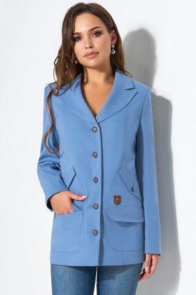 Купить Жакет Lissana 3488 голубой, Жакеты, 3488, голубой, Хлопок 71%+ПЭ 26%+Эластан 3%, Мультисезон