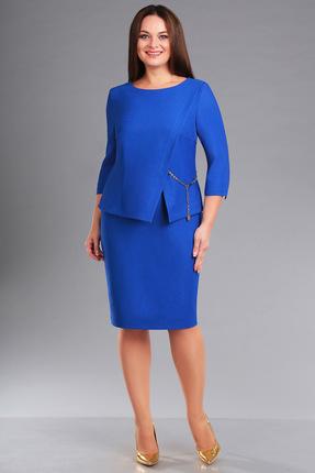 Купить Платье Ива 1041 василек, Платья, 1041, василек, плательная 70%п/э, 25%вискоза, 5%спандекс подкладка лифа 100%п/э, Мультисезон