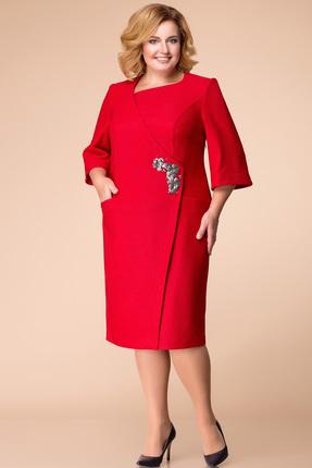 Купить Платье Romanovich style 1-1698 красный, Платья, 1-1698, красный, 71% ПЭ, 24% вискоза, 5% спандекс, Мультисезон