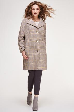 Купить со скидкой Пальто Магия Моды 1162 серые тона