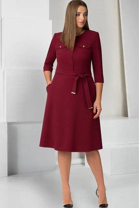Купить Платье ТАиЕР 727 марсала, Платья, 727, марсала, Шерсть 20%, Вискоза 25%, Полиэстер 55%, Мультисезон