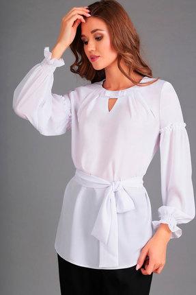 Купить Блузка Асолия 4029 белый, Блузки, 4029, белый, ПЭ - 100%, Мультисезон