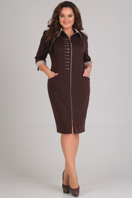 Платье Andrea Style 0097 коричневый