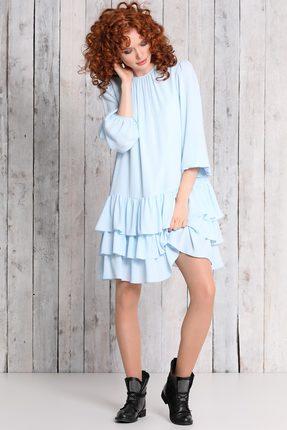 Купить Платье Noche Mio 1.480-2 голубой, Платья, 1.480-2, голубой, ПЭ 100%, Мультисезон