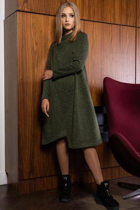 Купить Платье Deesses P-004 хаки, Платья, P-004, хаки, Шерсть 15%+Вискоза 40%+ПЭ 42%+Спандекс 3%, Мультисезон