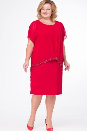 Купить Платье Bonna Image 352 красный, Платья, 352, красный, ПЭ - 71%, Вискоза - 24 %, Спандекс - 5%, Мультисезон