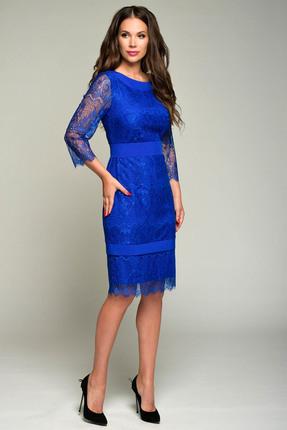 Купить Платье Teffi style 1356 синий, Платья, 1356, синий, 95%пэ, 5% эластан, Мультисезон