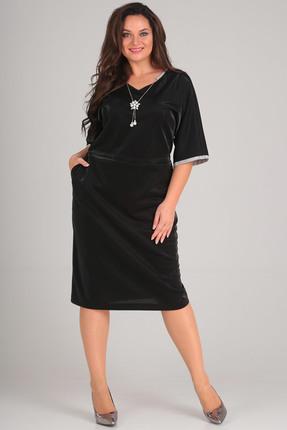 Купить Платье Andrea Style 0096 черный, Повседневные платья, 0096, черный, ПЭ 97%, спандекс 3 %., Мультисезон