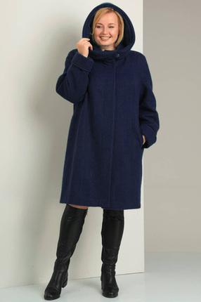 Купить Пальто Диамант 1016 темно синий, Пальто, 1016, темно синий, Махер 60%, полиамид 40%., Мультисезон