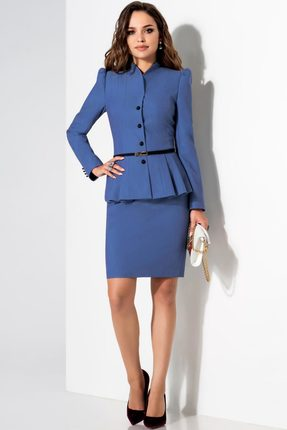 Купить Комплект юбочный Lissana 1740 синие тона, Юбочные, 1740, синие тона, ПЭ 74%+Вискоза 21%+Спандекс 5%, Мультисезон