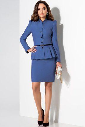 Купить Комплект юбочный Lissana 1740а синие тона, Юбочные, 1740а, синие тона, ПЭ 74%+Вискоза 21%+Спандекс 5%, Мультисезон
