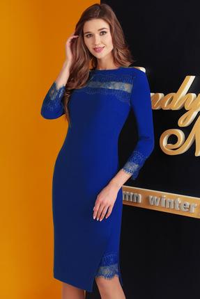Купить Платье SandyNa 13525-1 василек, Платья, 13525-1, василек, вискоза 33%, полиэстер 65%, эластан 2%, Мультисезон
