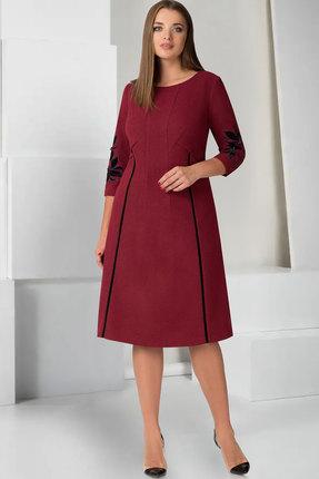 Купить Платье ТАиЕР 726 бордовый, Платья, 726, бордовый, Вискоза 60%, Полиэстер 34%, Спандекс 5%, Люрекс 1%, Мультисезон